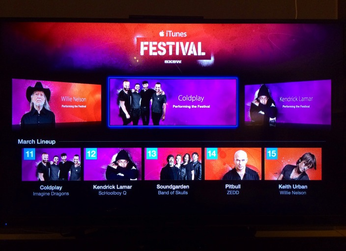iTunes Festival channel shows up on Apple TV ahead of SXSWconcerts